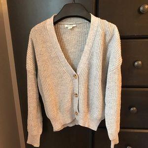 Garage Grey Cardigan Sweater